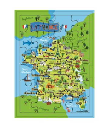Carte géante puzzle carte...
