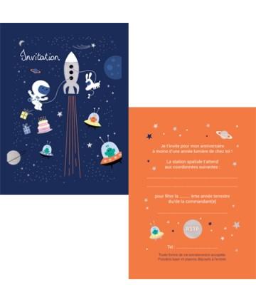 Invitations espace (x 8)