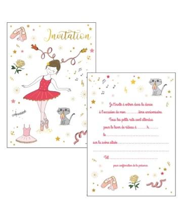 Cartes invitations danseuse