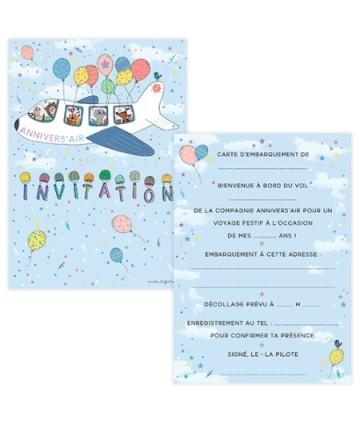 Invitations annivers'air (x 8)