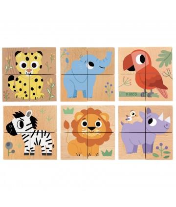 Cubes puzzle bois - Wild &...