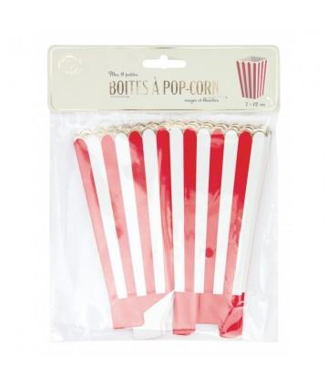 Boîtes à pop-corn rouges et...
