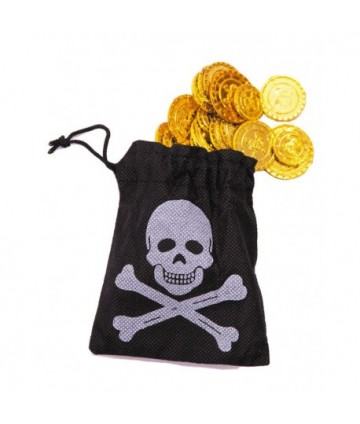 Bourse pirate 50 pièces or