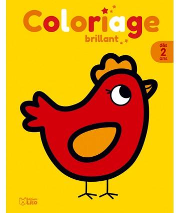 Coloriage brillant - La poule