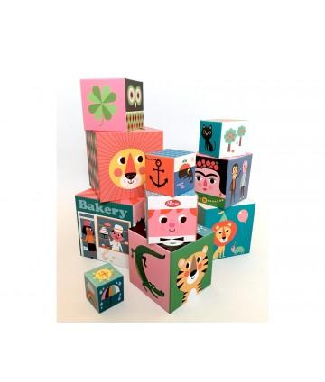 Cubes empilables x 10