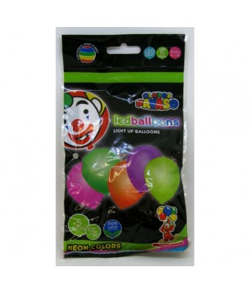 Ballons 26 cm avec led (x 5)