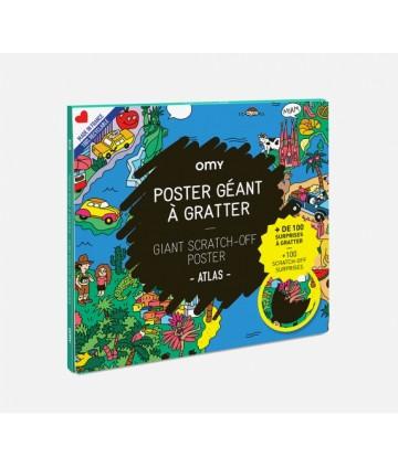 Poster géant à Gratter - Atlas