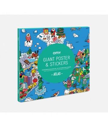 Poster géant et stickers atlas