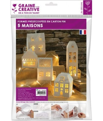 Lot 5 maisons blanches...