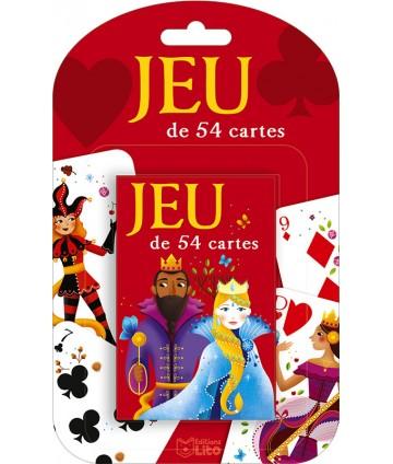 Jeu de 54 cartes rouge