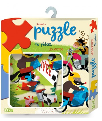 Puzzle 12 pièces Les motos