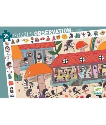 Puzzle observation L'école...