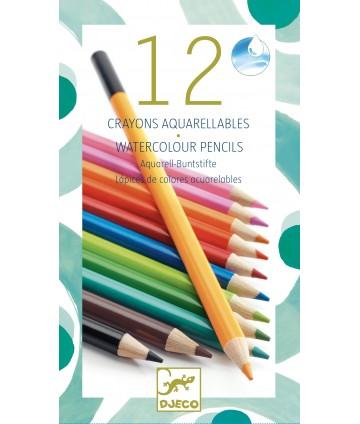 12 crayons aquarelle classique