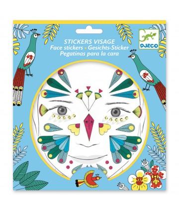 Stickers visage oiseaux