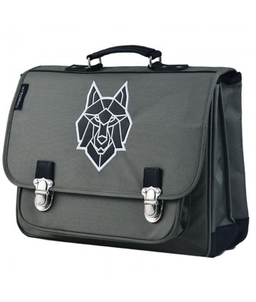 Cartable MM Loup gris
