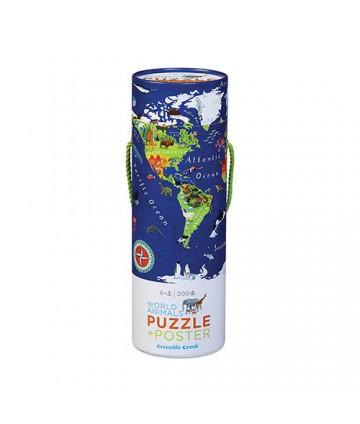 Puzzle et poster - Monde...