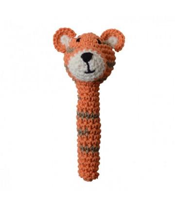 Hochet crochet tigre