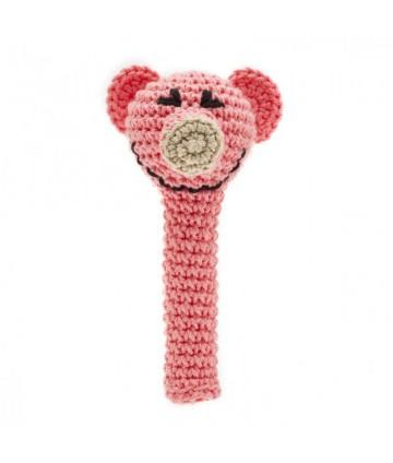 Hochet crochet cochon