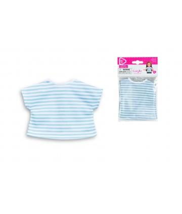 T shirt rayé bleu et blanc