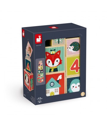 Pyramide 6 cubes baby forest