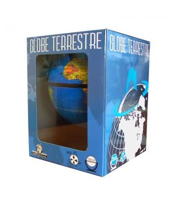 Globe 10 cm tournant bleu...