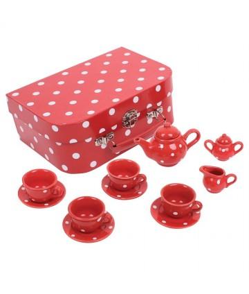 Service à thé rouge en...