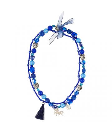 Collier Trish licorne bleu