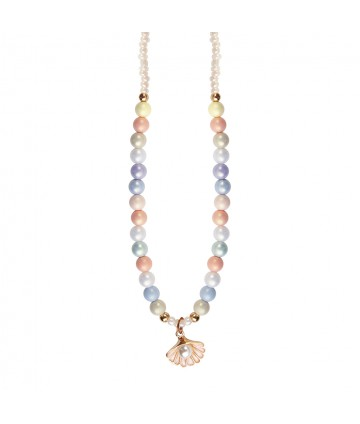 Collier pastel shell