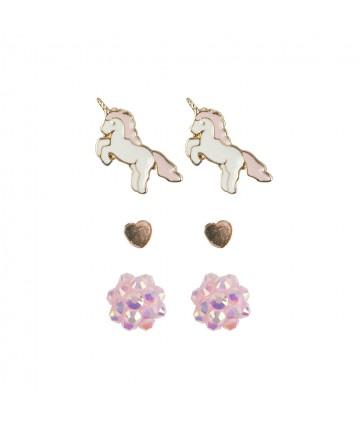 Boucles d'oreille Unicorn...