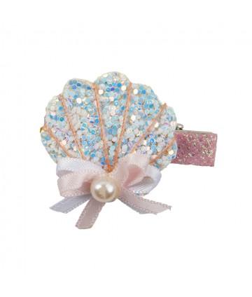 Barrette sparkle shell