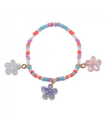 Bracelet shimmer flower