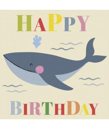 Carte anniversaire - Whale