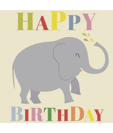 Carte anniversaire - Eléphant