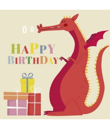 Carte anniversaire - Dragon